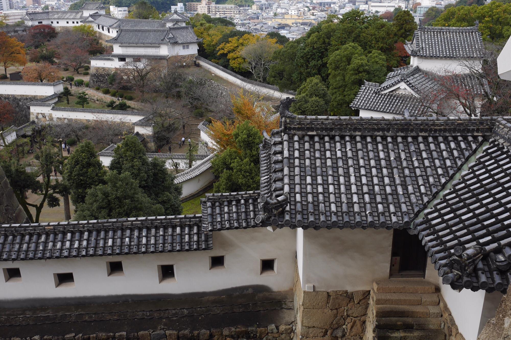 姫路城 城壁つづら折り
